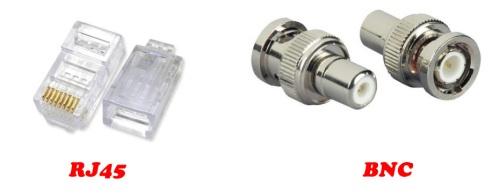 Kabel : Coaxial thick, coaxial thin atau UTP, STP